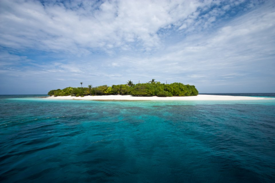 Maldivian inhabited island